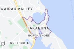 Location of Takapuna