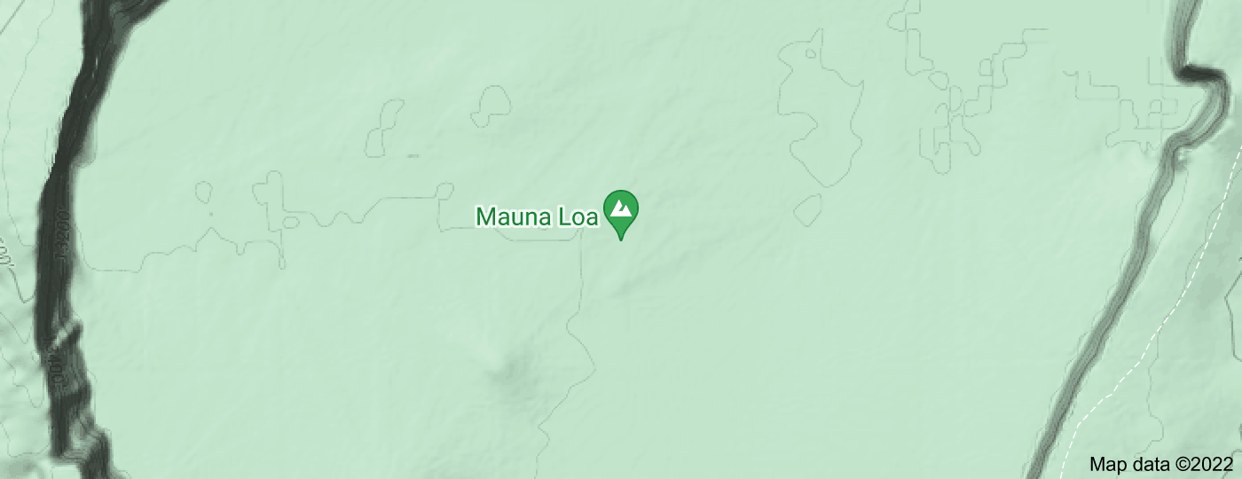Location of Mauna Loa
