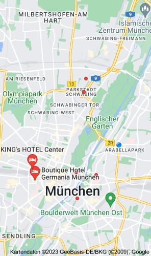 Karte von 3 star hotels