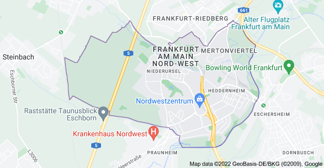 Map of 60439 Frankfurt, Germany
