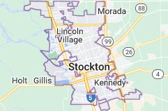Map of Stockton, California