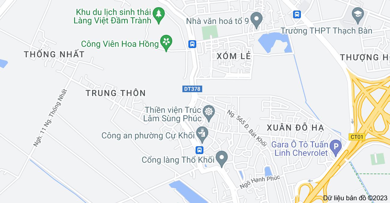 Bản đồ của Bát Khối, Long Biên, Hà Nội