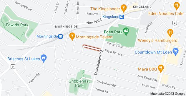 Location of Shaw Street
