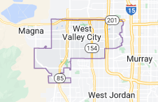 Map of West Valley City, Utah