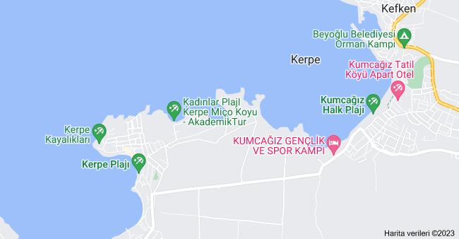 Kerpe, Kandıra/Kocaeli haritası