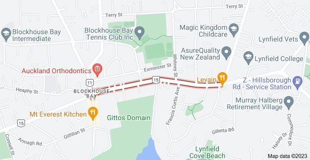 Location of Donovan Street