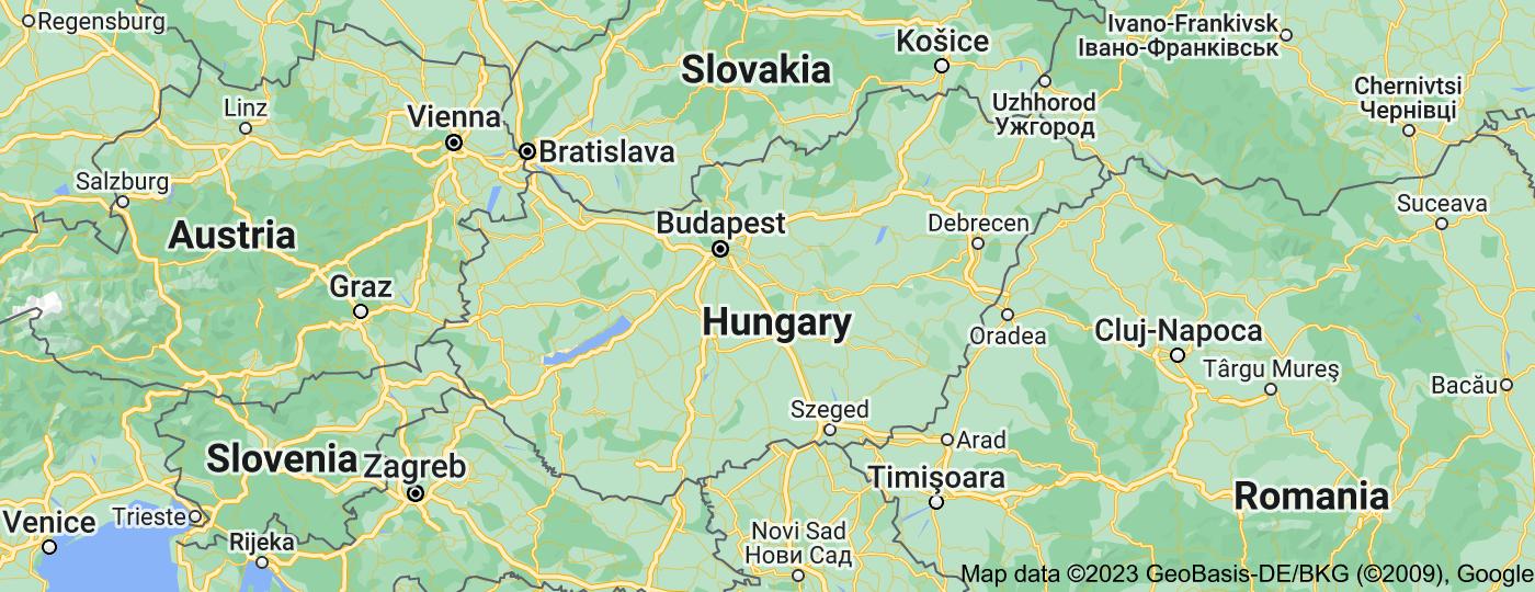 Location of Hungary