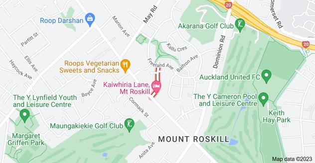 Location of Playfair Road