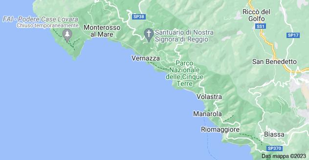 Mappa di: Cinque Terre, SP