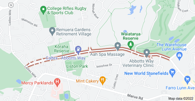 Location of Abbotts Way