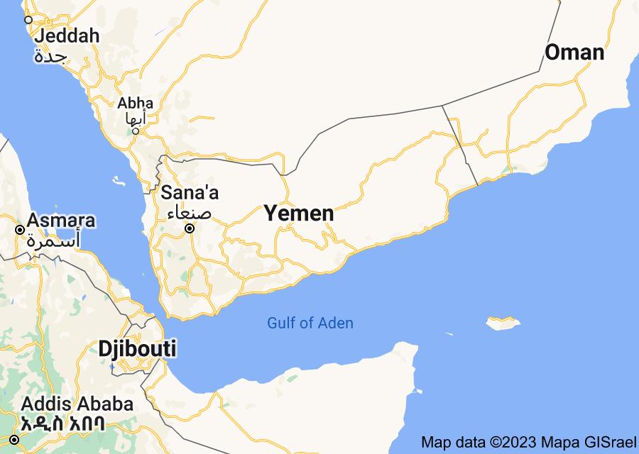 Location of Yemen