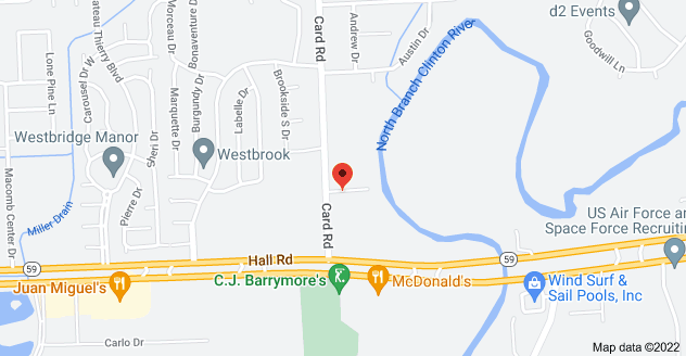 Map of 45200 Card Rd #108, Macomb, MI 48044