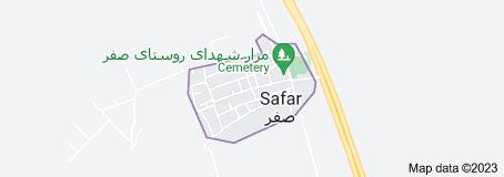 Map of Safar, Iran