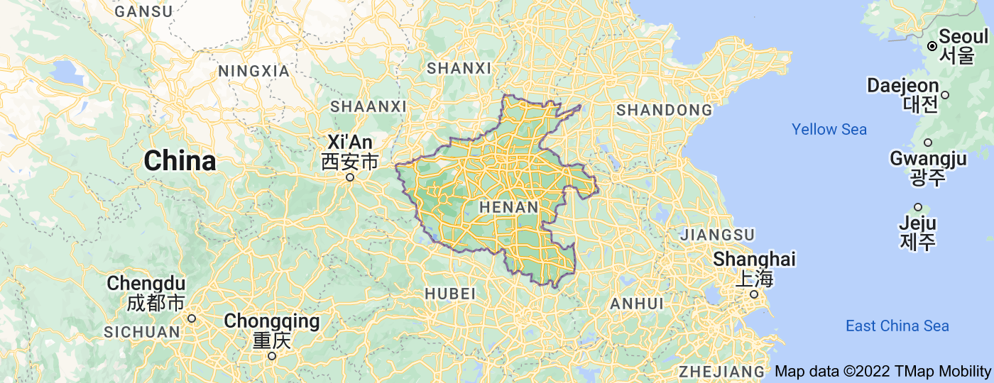 Location of Henan