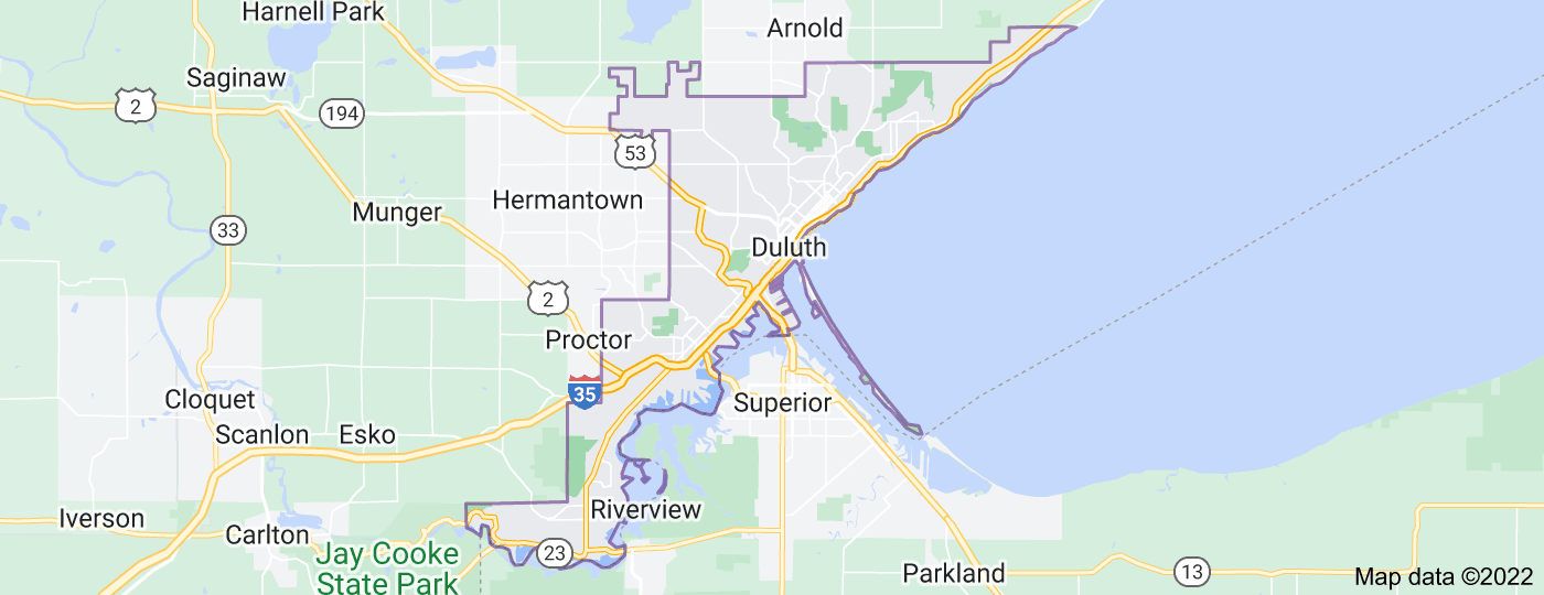 Location of Duluth
