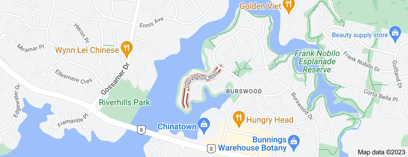 Location of Davington Way