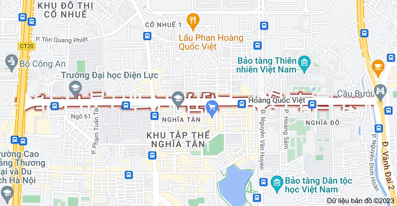 Bản đồ của Hoàng Quốc Việt, Hà Nội