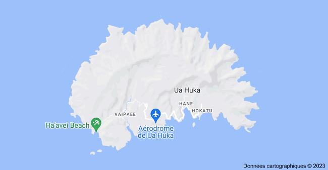 Ua Huka, Polynésie française: carte