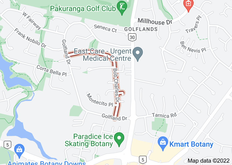 Location of Bob Charles Drive