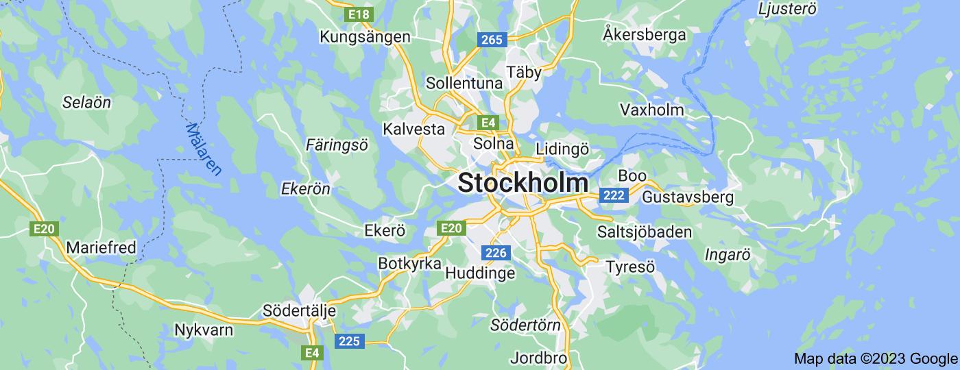 Location of Stockholm