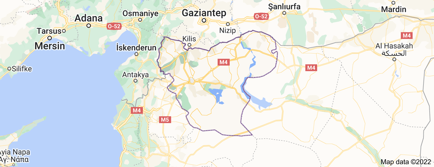 Location of Aleppo Governorate