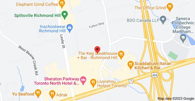 Map of 165 East Beaver Creek Rd #2, Richmond Hill, ON L4B 2N2