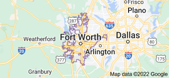 Map of Fort Worth, Texas