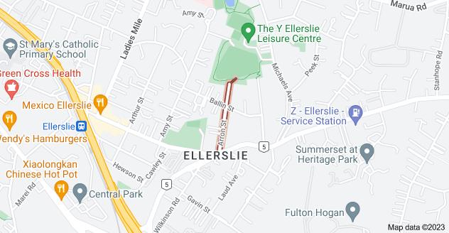 Location of Arron Street