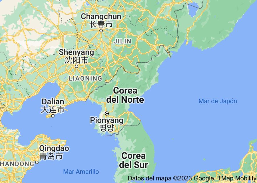 Location of Corea del Norte