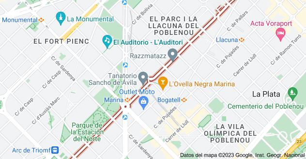 Mapa de Carrer dels Almogàvers, 08018 Barcelona, España
