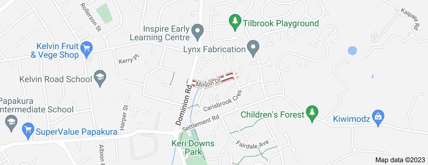 Location of Milson Drive