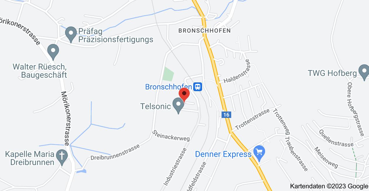 Karte von Industriestrasse 4, 9552 Bronschhofen