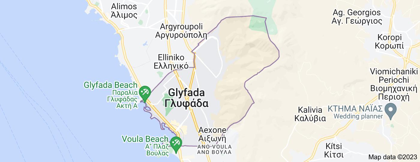 Location of Glyfada