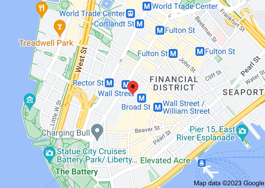 Location of New York Stock Exchange