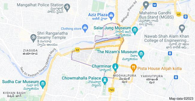 Map of Ghansi Bazaar, Hyderabad, Telangana, India