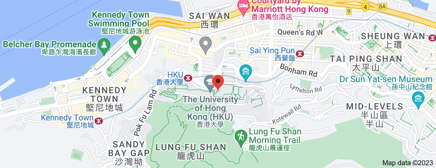 Location of The University of Hong Kong