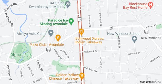 Location of Blockhouse Bay Road