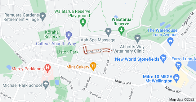 Location of Innisfree Drive