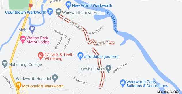 Location of Alnwick Street