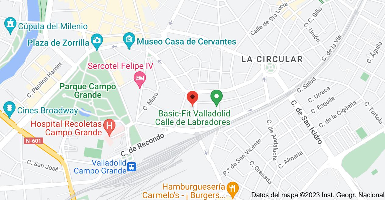 Mapa de Calle de Panaderos, 52, 47004 Valladolid