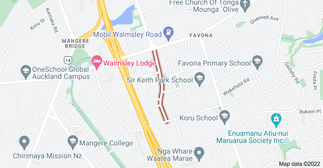 Location of Donnell Avenue