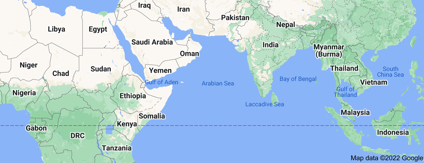 Location of Arabian Sea