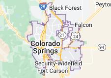 Map of Colorado Springs