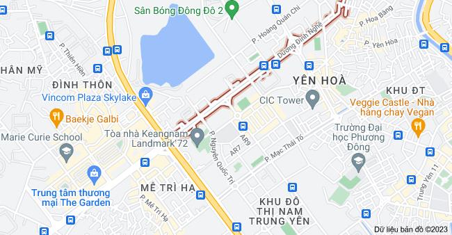 Bản đồ của D. Đình Nghệ, Mễ Trì, Hà Nội