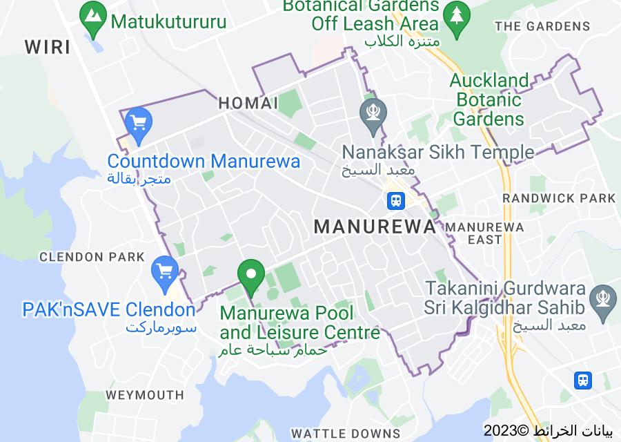 Location of Manurewa