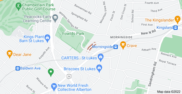 Location of Park Hill Road
