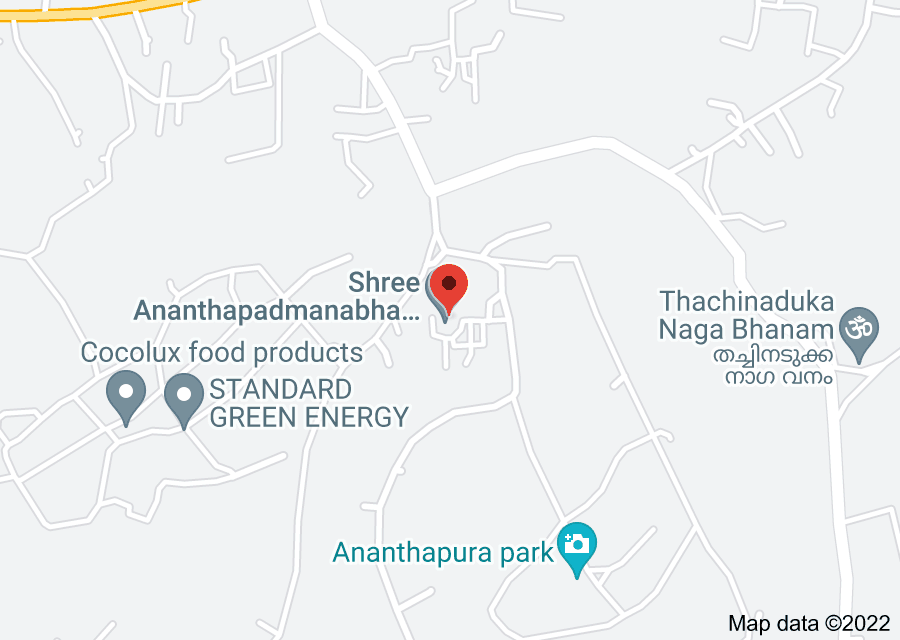 Location of Ananthapura Lake Temple