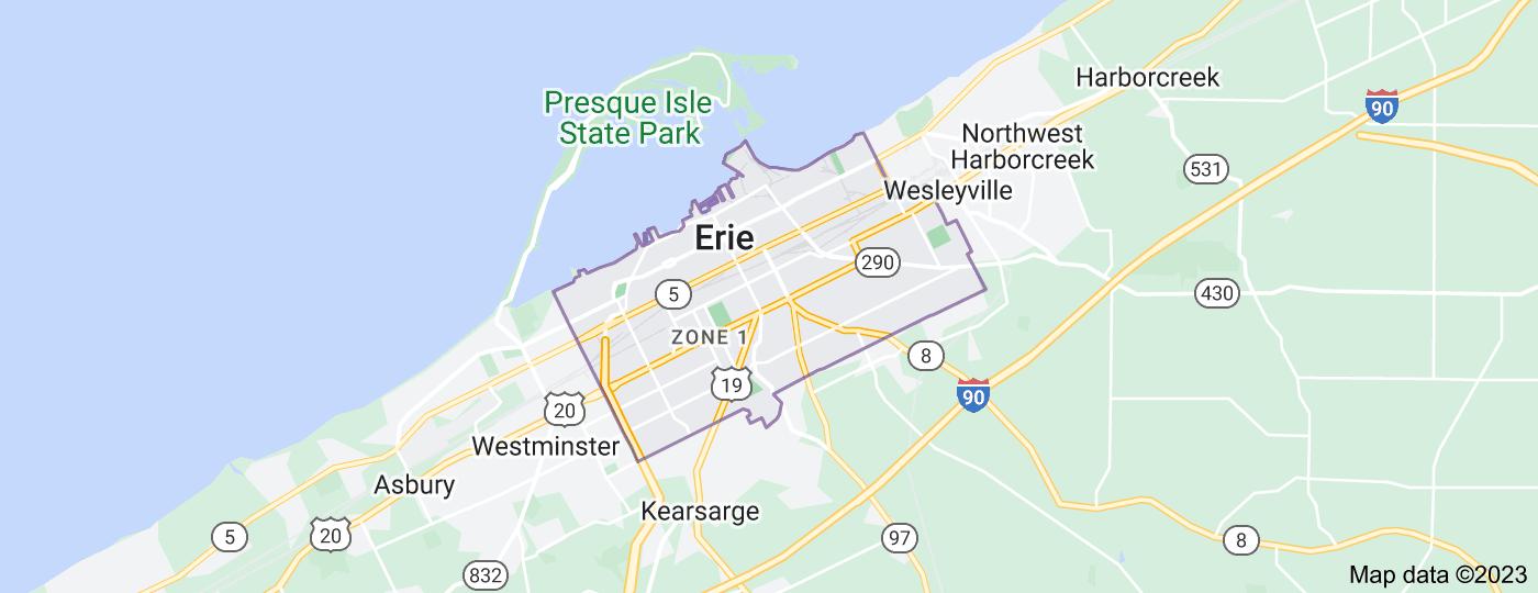 Location of Erie