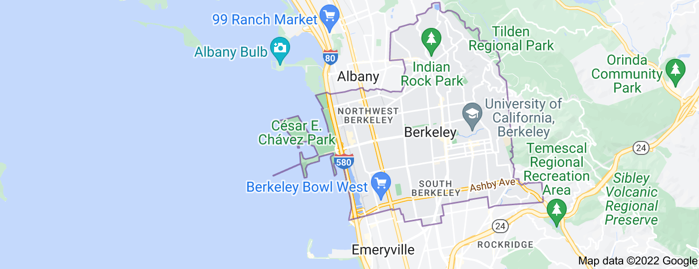 Location of Berkeley