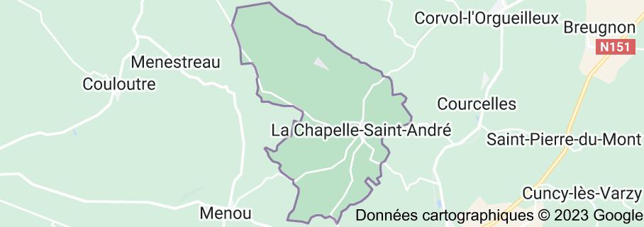 La Chapelle-Saint-André France: carte